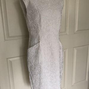 Michael Kors Dresses   MICHAEL KORS WHITE SHEATH DRESS (BRIDAL) POCKETS